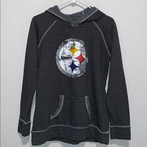 NFL Team Apparel STEELERS - Women's Hoodie size L
